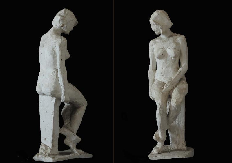 Женская модель. Гипс / Sieviešu modelis. Ģipsis