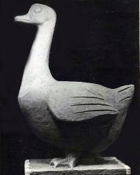 Садовая скульптура Гусь. Бетон / Dārza skulptūra. Zoss. Betons