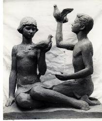 1977. Дети с голубями / Bērni ar baložiem