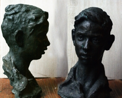 1954. Портрет Андрея Дерманиса. Бронза / Andreja Dermaņa portrets. Bronza